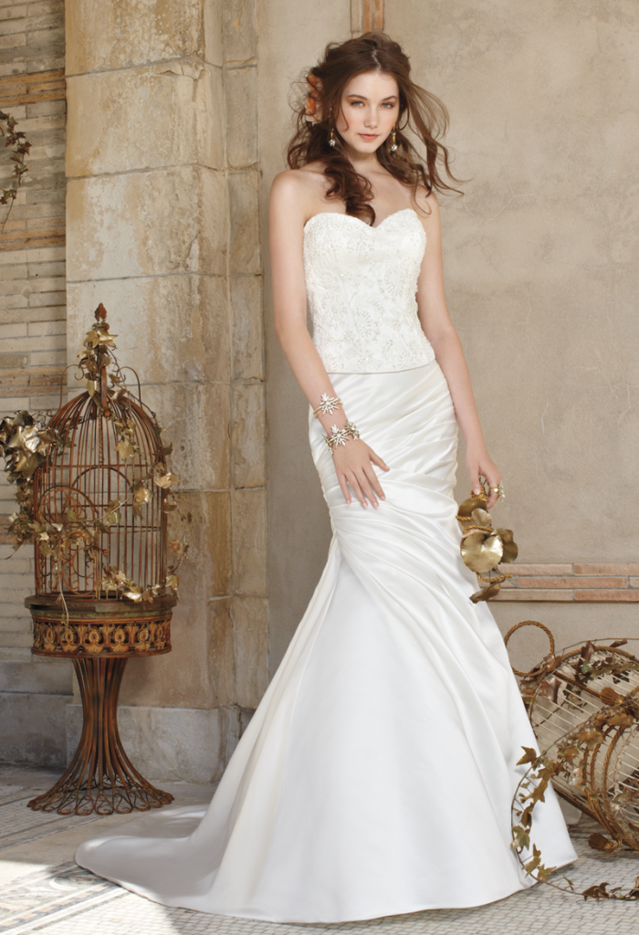 Camille La Vie Strapless Wedding Dress with Corset