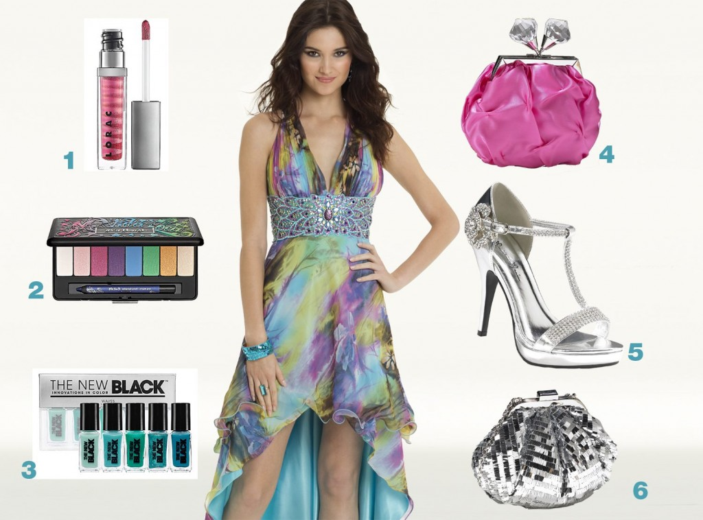 Camille La Vie Watercolor High-Low Dress