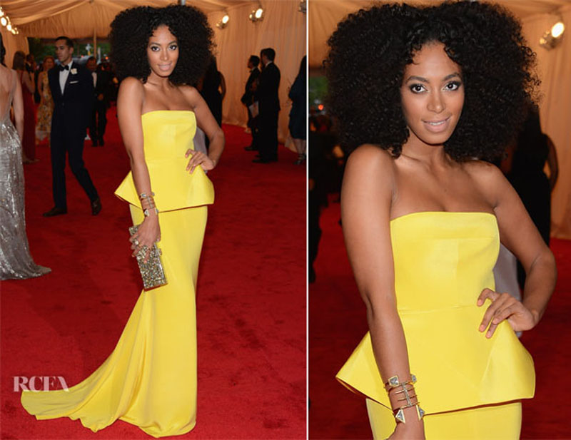 Solange Knowles in Rachel Roy at 2012 Met Gala