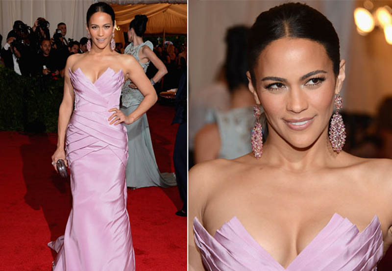 Paula Patton in Vera Wang 2012 Met Gala