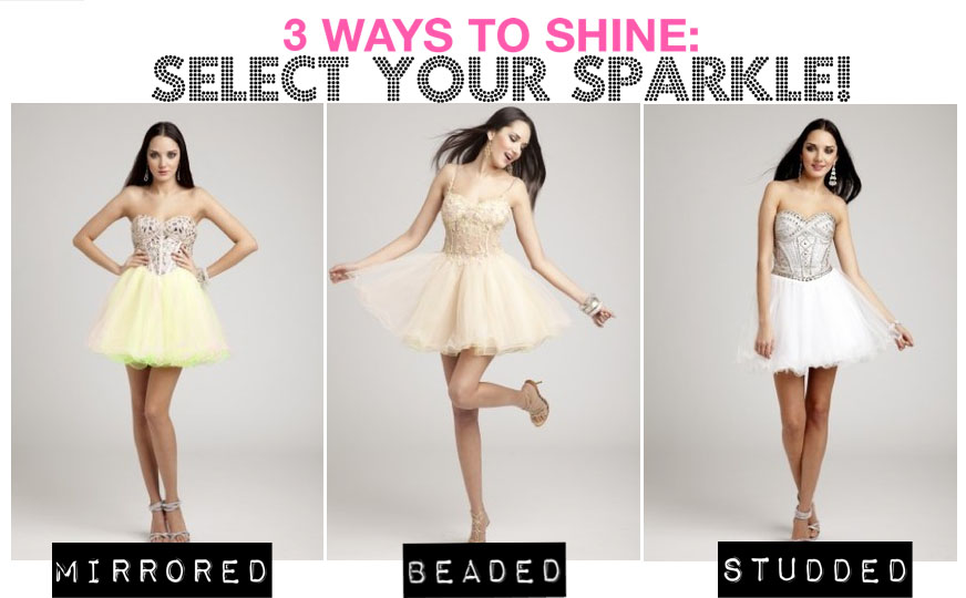 Select your sparkly Camille La Vie dress!