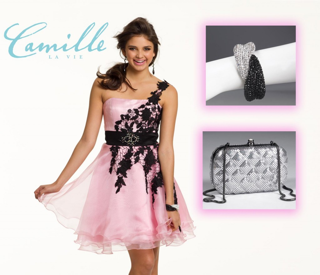 one shoulder lace short dress from camille la vie