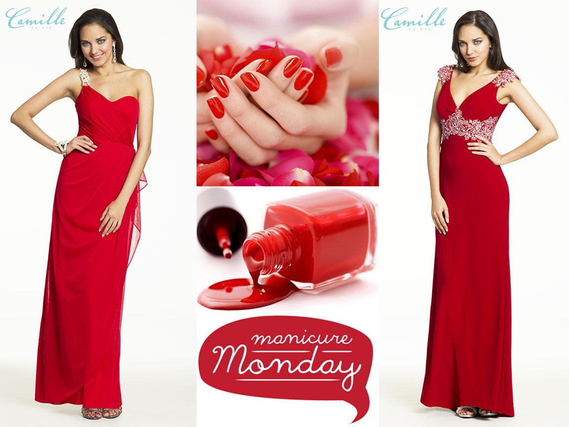 Red dresses for Manicure Monday!