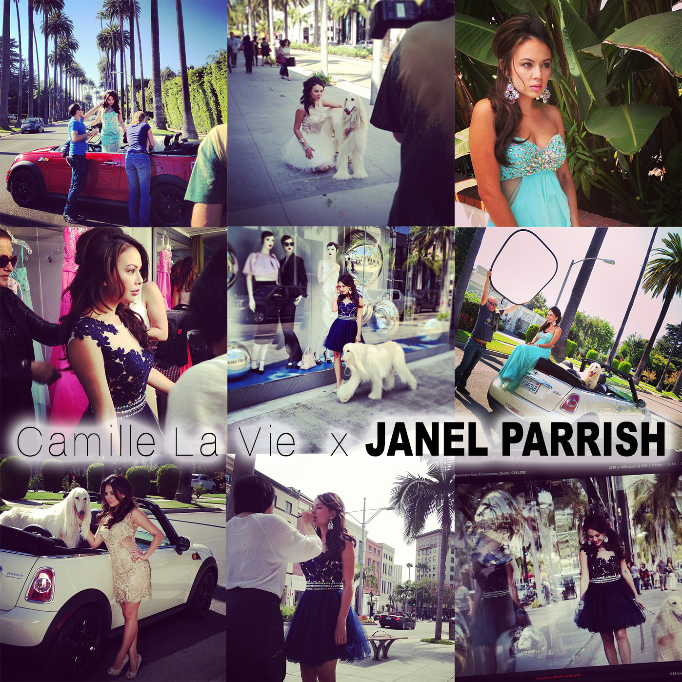 Janel Parrish models for Camille La Vie