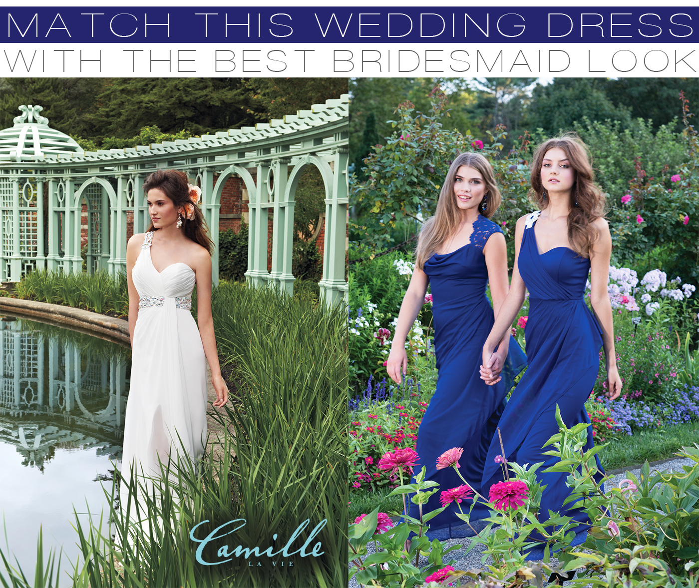 Royal blue bridesmaid dresses to match your wedding gown Camille