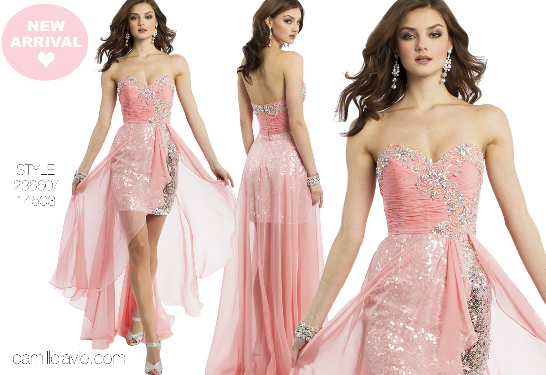 pink and sparkly prom dresses for spring 2014 | Camille La Vie
