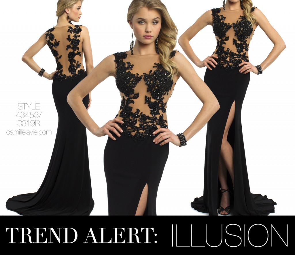 trend report illusion dresses for prom