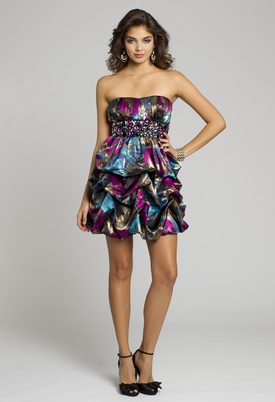 Shop this strapless dress!