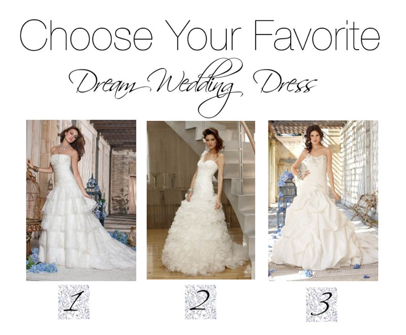 Select Your Favorite Of These Three Wedding Dresses Camille La Vie