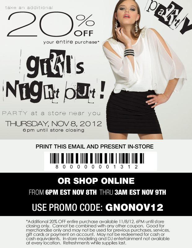 Come to the Girls Night Out Party!