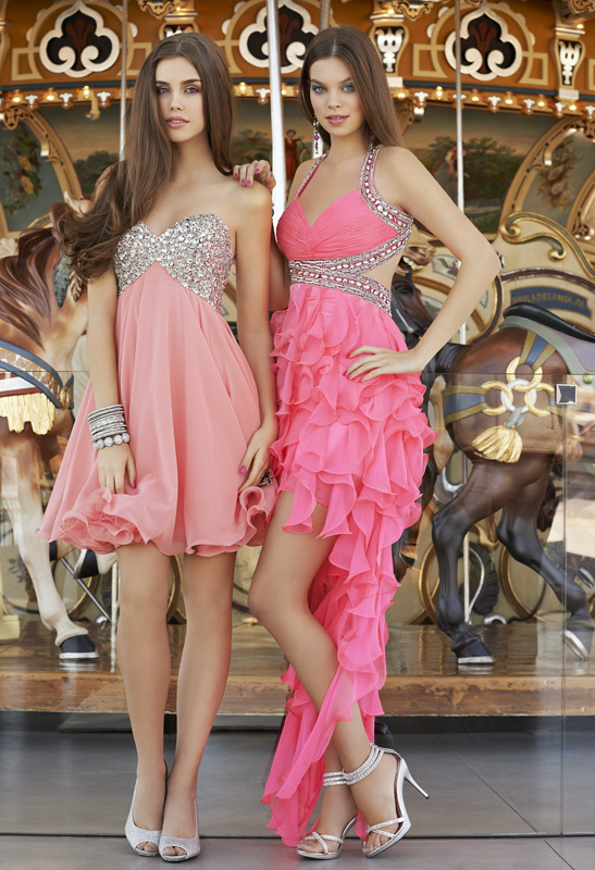 pretty in pinks short prom dresses
