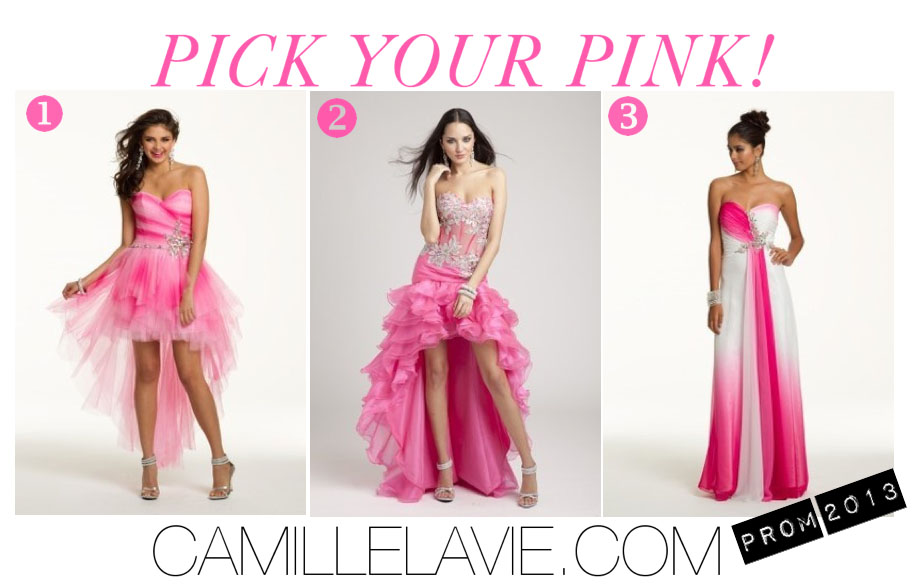 drape in pink for the prom dresses 2013 season | Camille La Vie