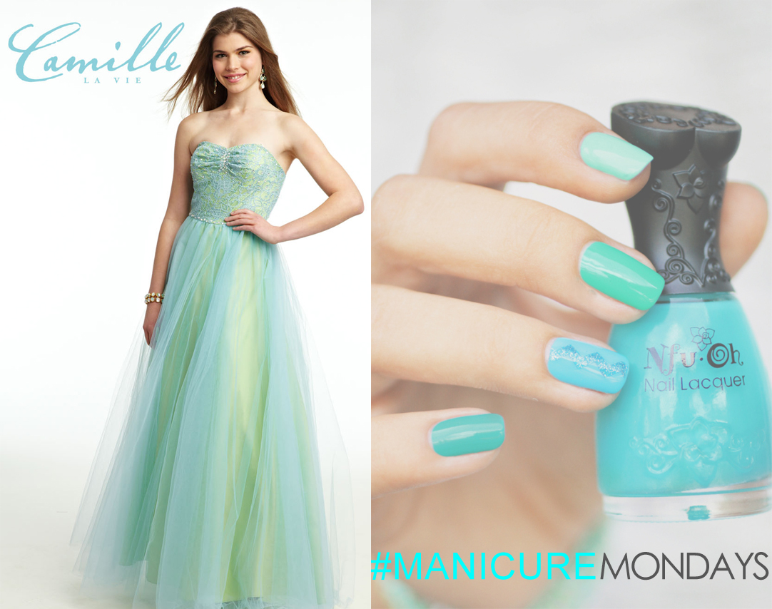 Match your dress with pretty nails for Manicure Monday!