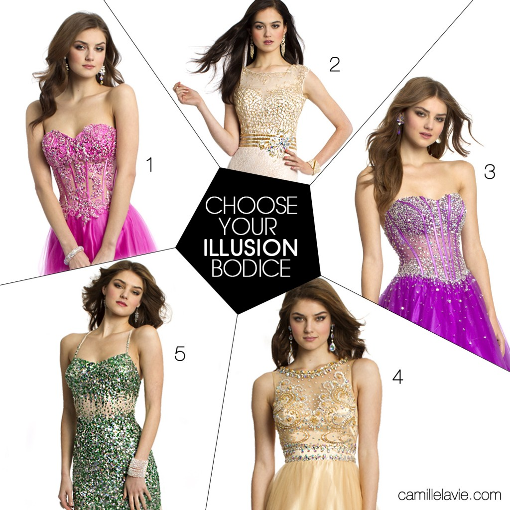 illusion prom dresses for 2014 by camille la vie | Camille ...