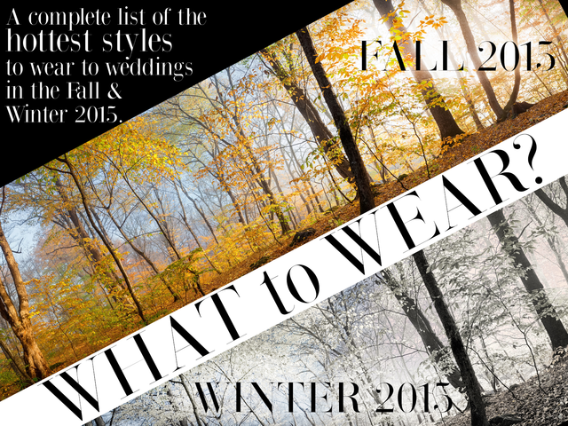 What To Wear: Fall & Winter Weddings