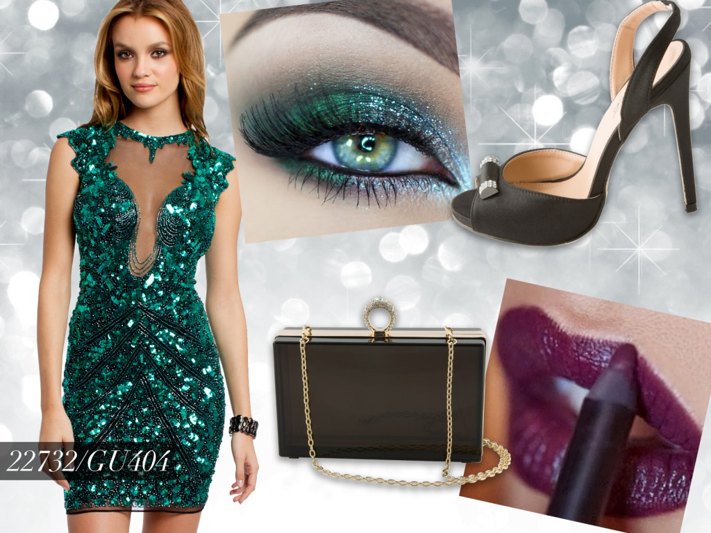 Emerald Sequin New Years Eve Dress