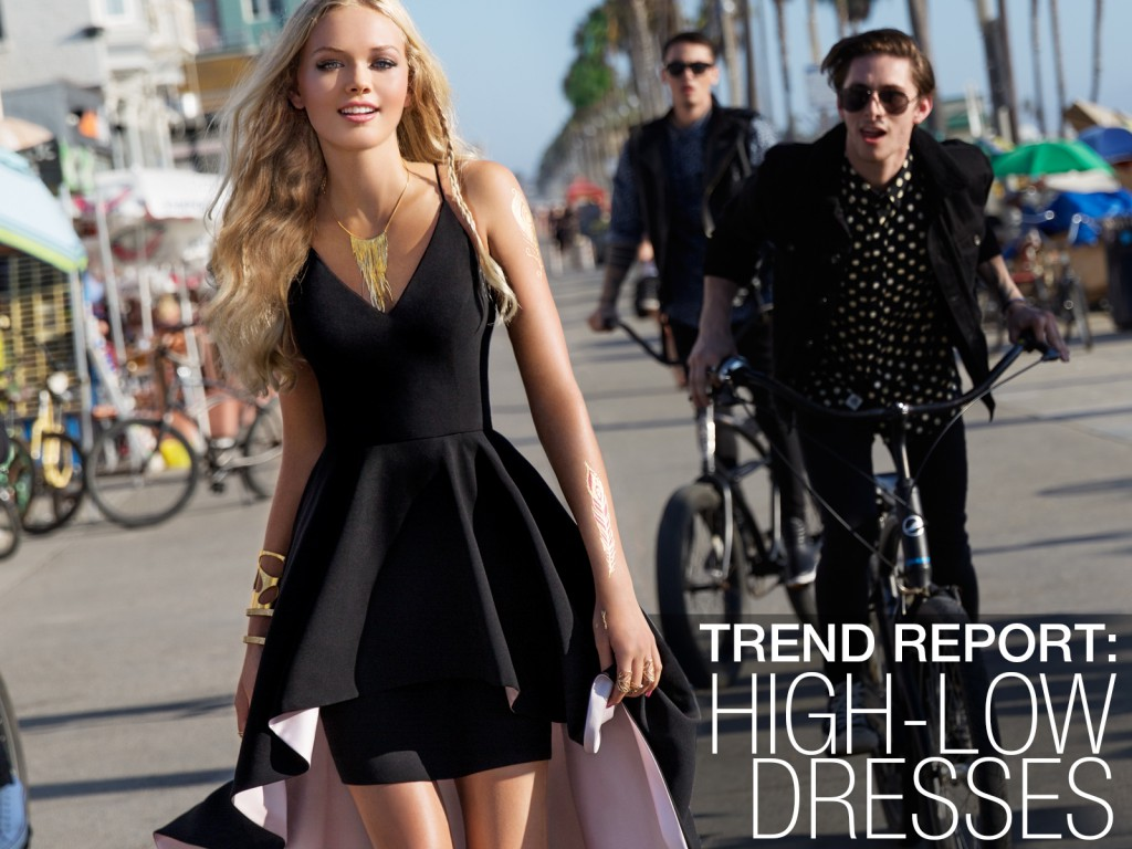 highlow dresses trend report