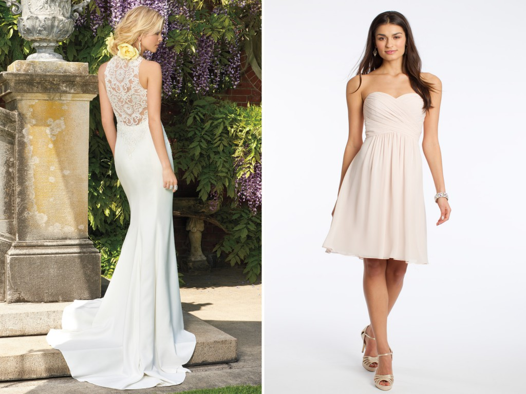 Beach Bride and Bridesmaids Dresses