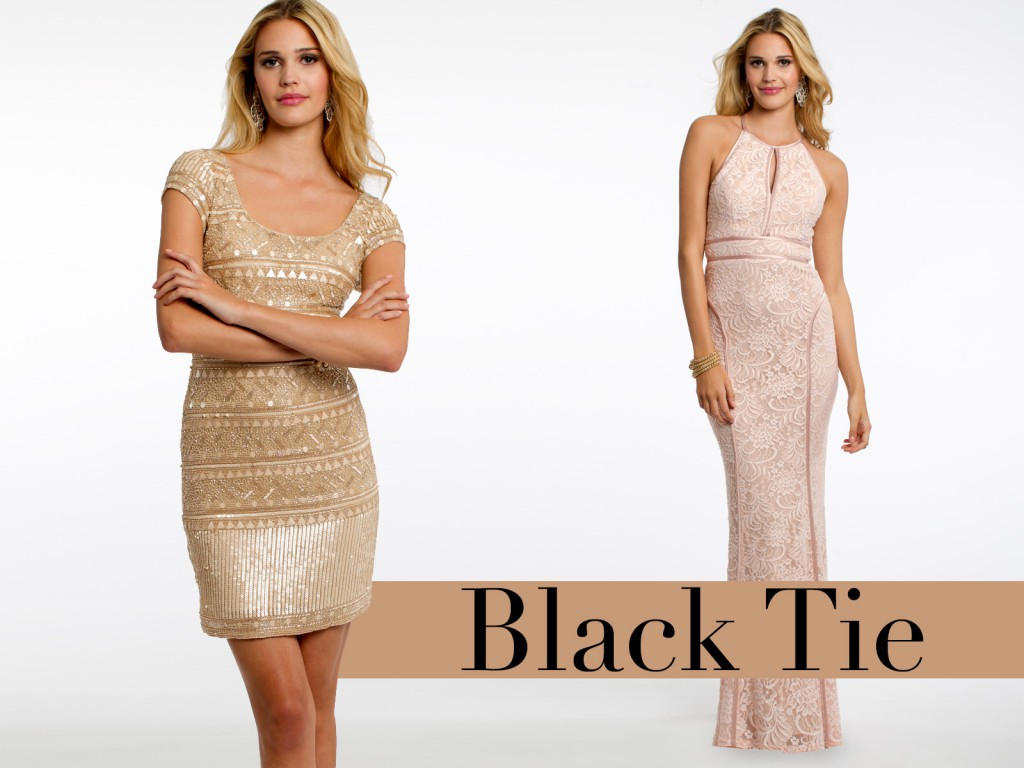Black tie dress code female