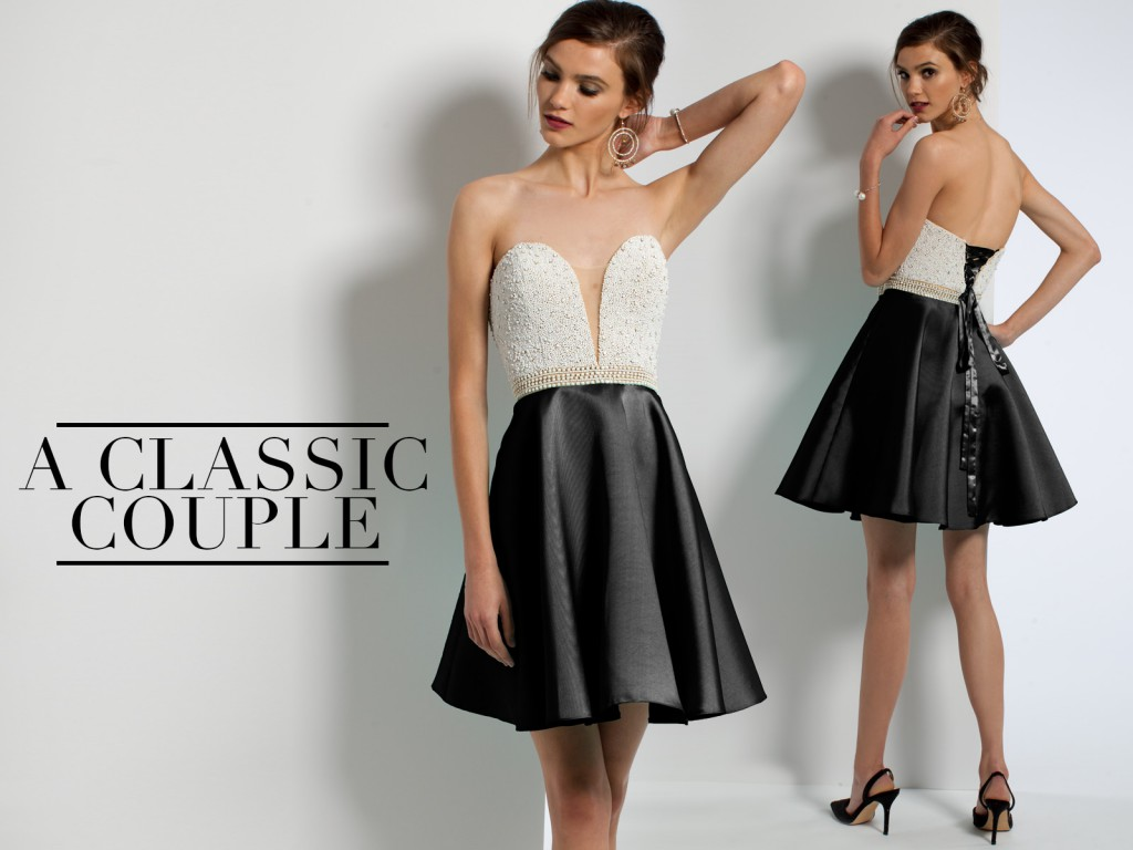 Black and White Homecoming Dresses