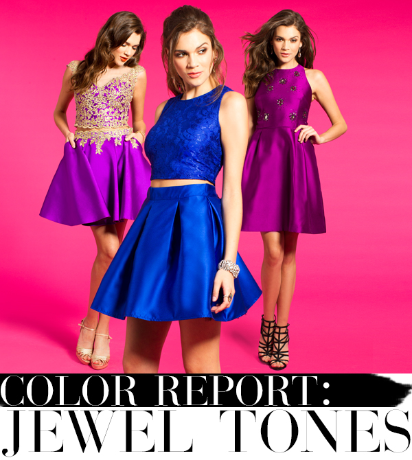 Jewel Tone Homecoming Dresses