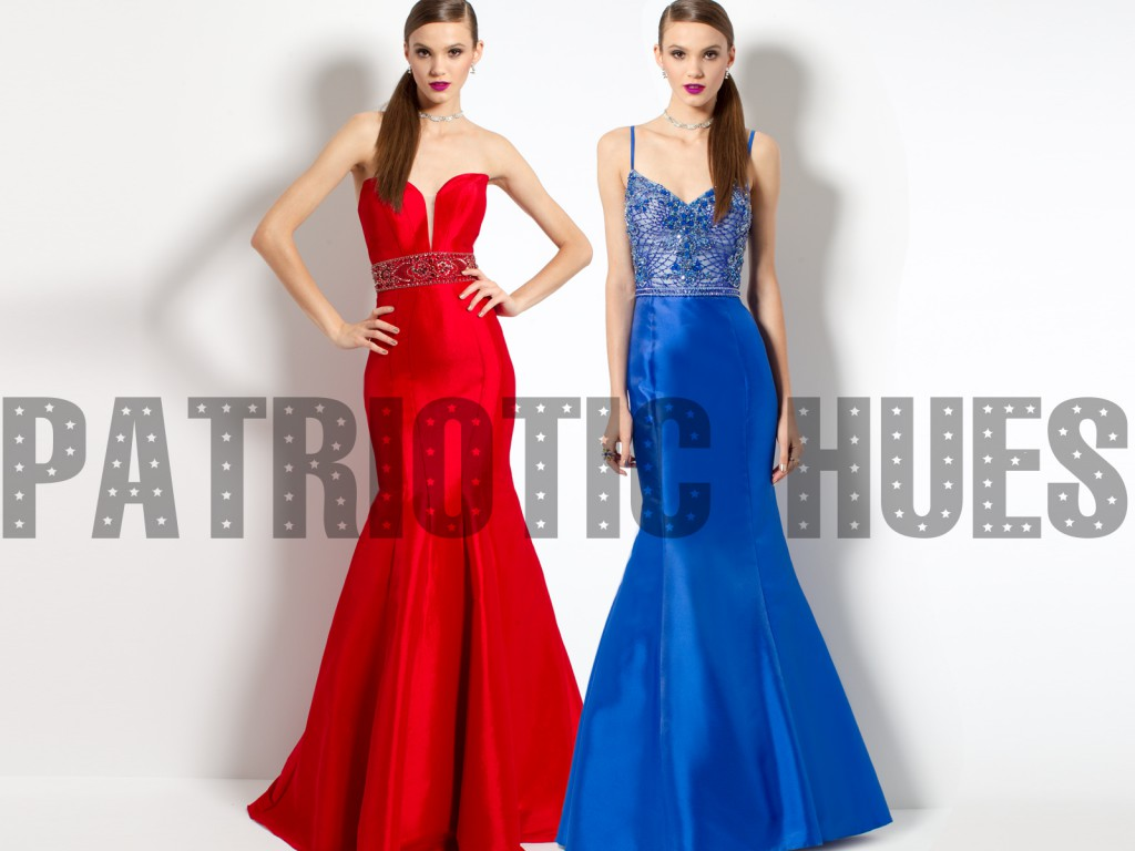 Party Dresses in Patriotic Hues
