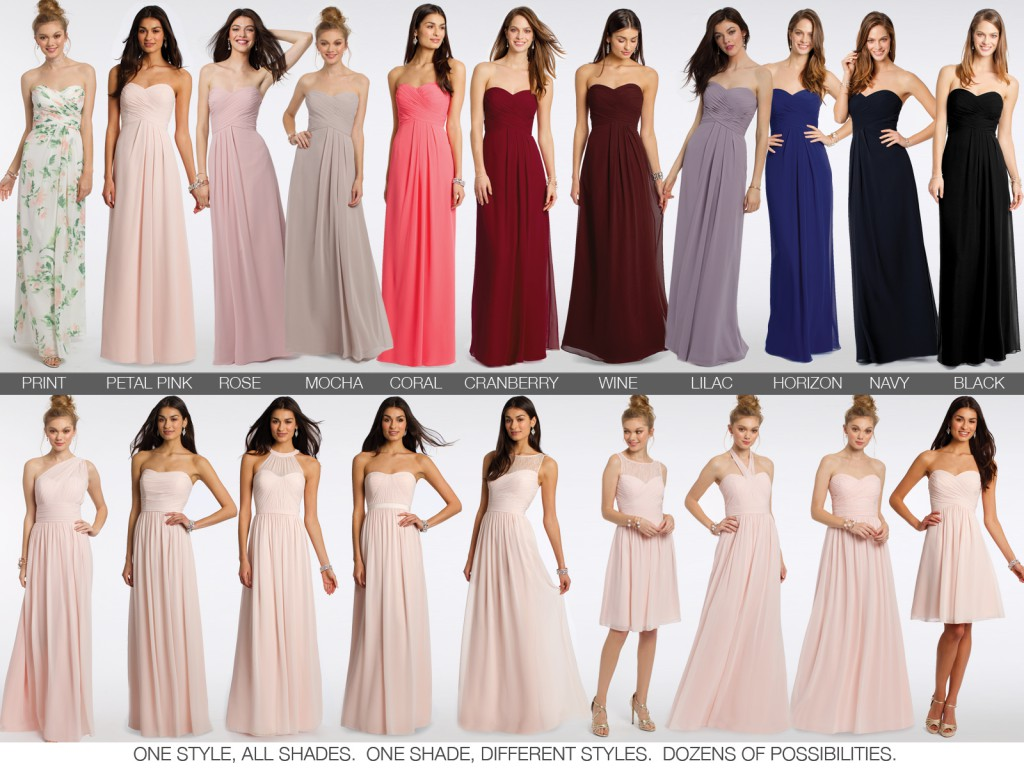 Mix and Match Bridesmaids Dresses by Camille La Vie