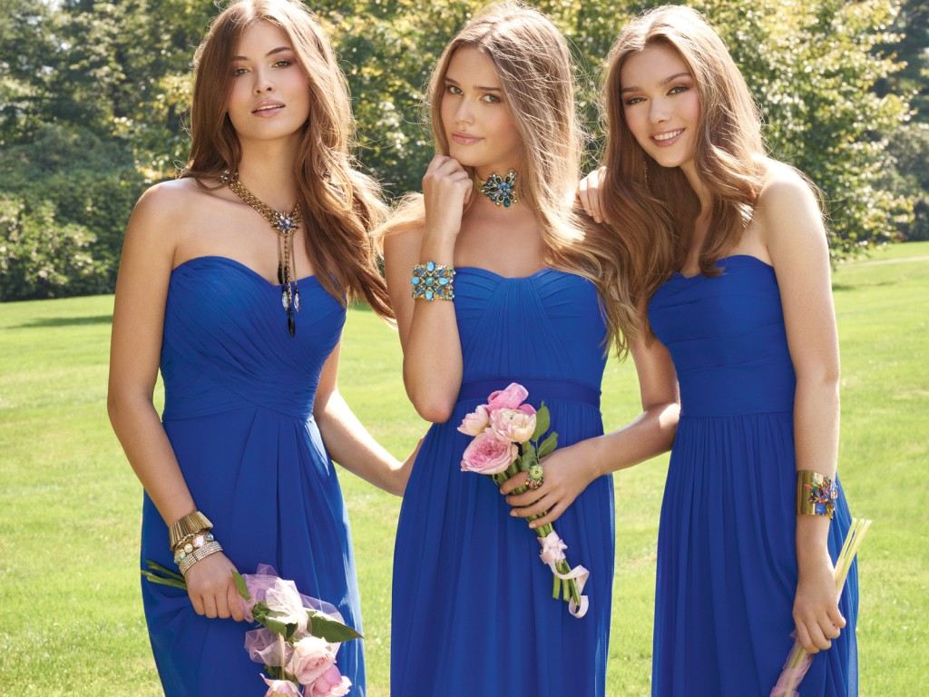 Horizon Blue Bridesmaid Dresses by Camille La Vie