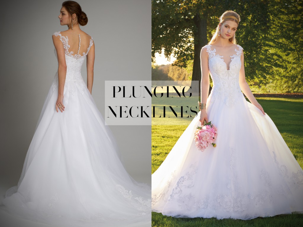 Wedding Dress Plunging Neckline