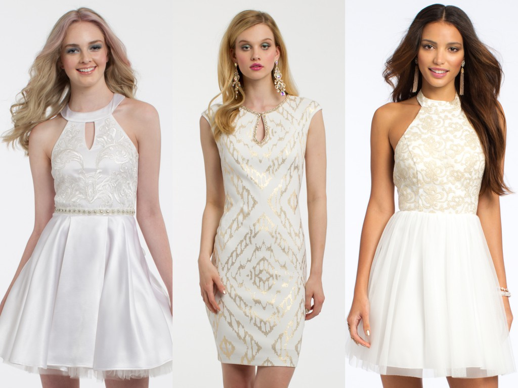 White Homecoming Dresses by Camille La Vie