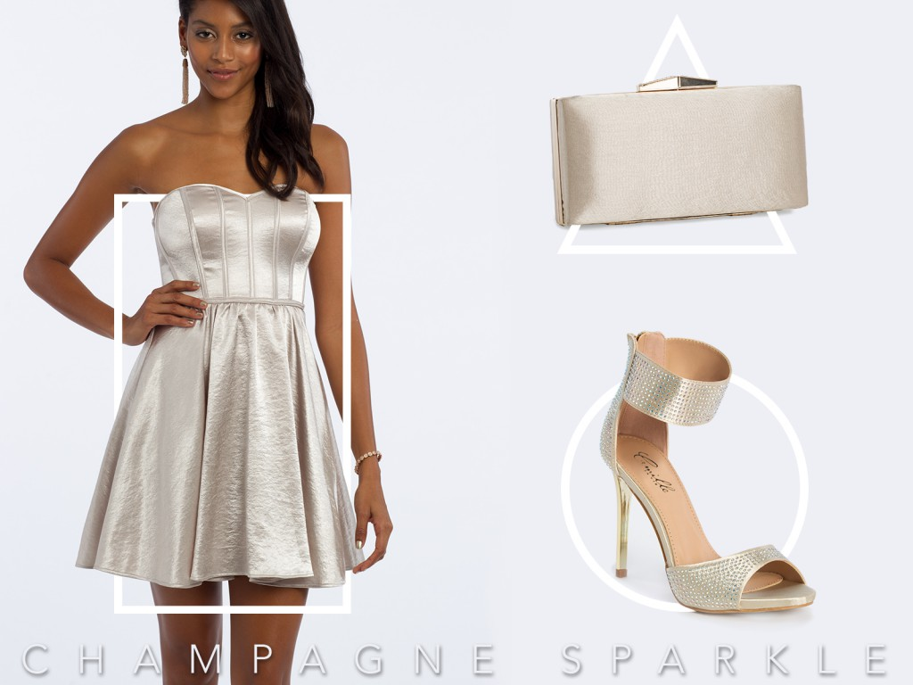 Metallic Homecoming Dress