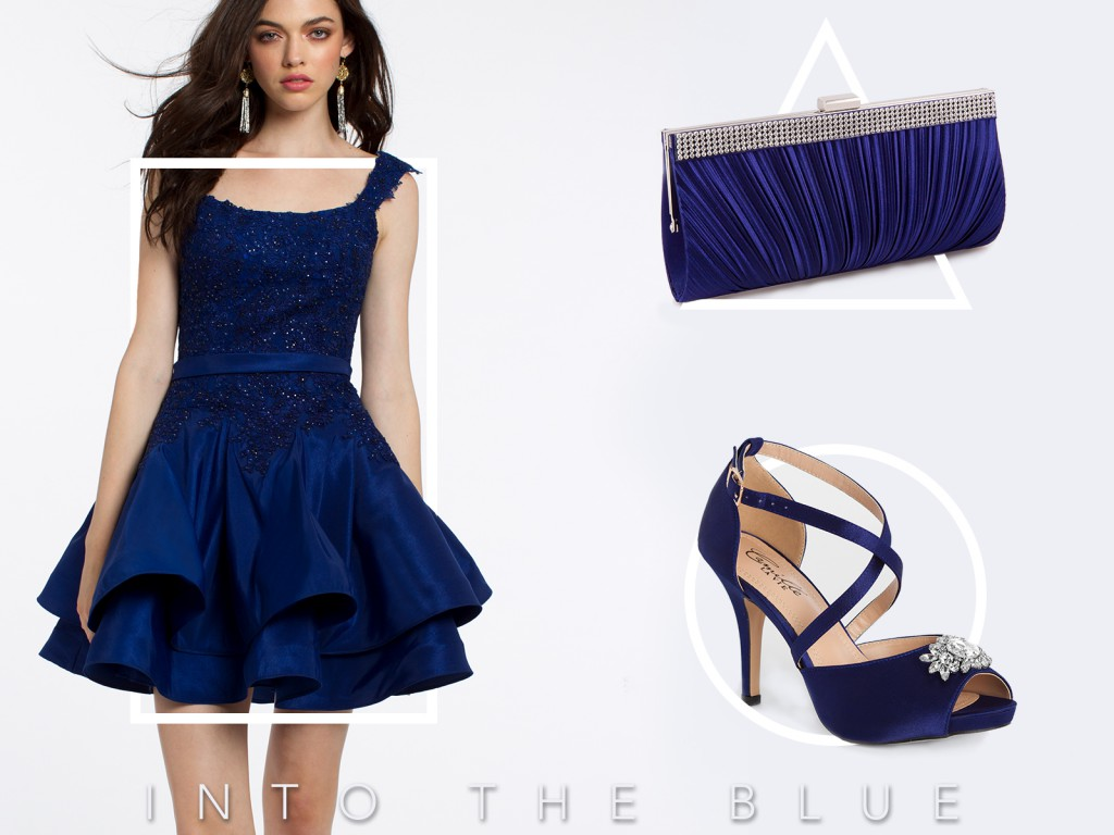 Blue Homecoming Dress