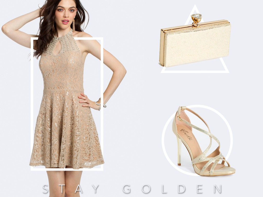 Gold Homecoming Dress