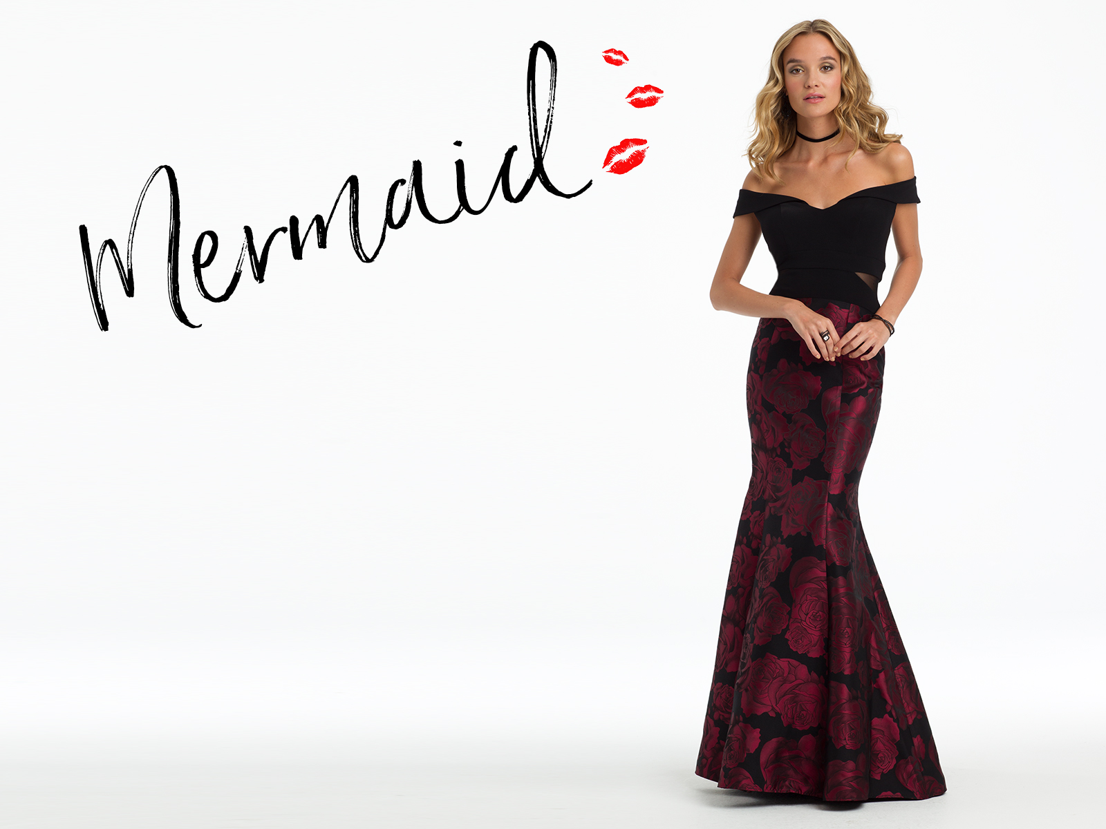 Hourgl Gals Kiss Your Curves Hello In This Festive Off The Shoulder Mermaid Dress If You Re Curvy With A Small Waist Google Need