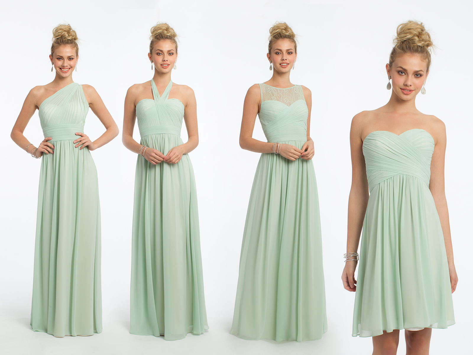 Camille La Vie Sage Bridesmaid Dresses