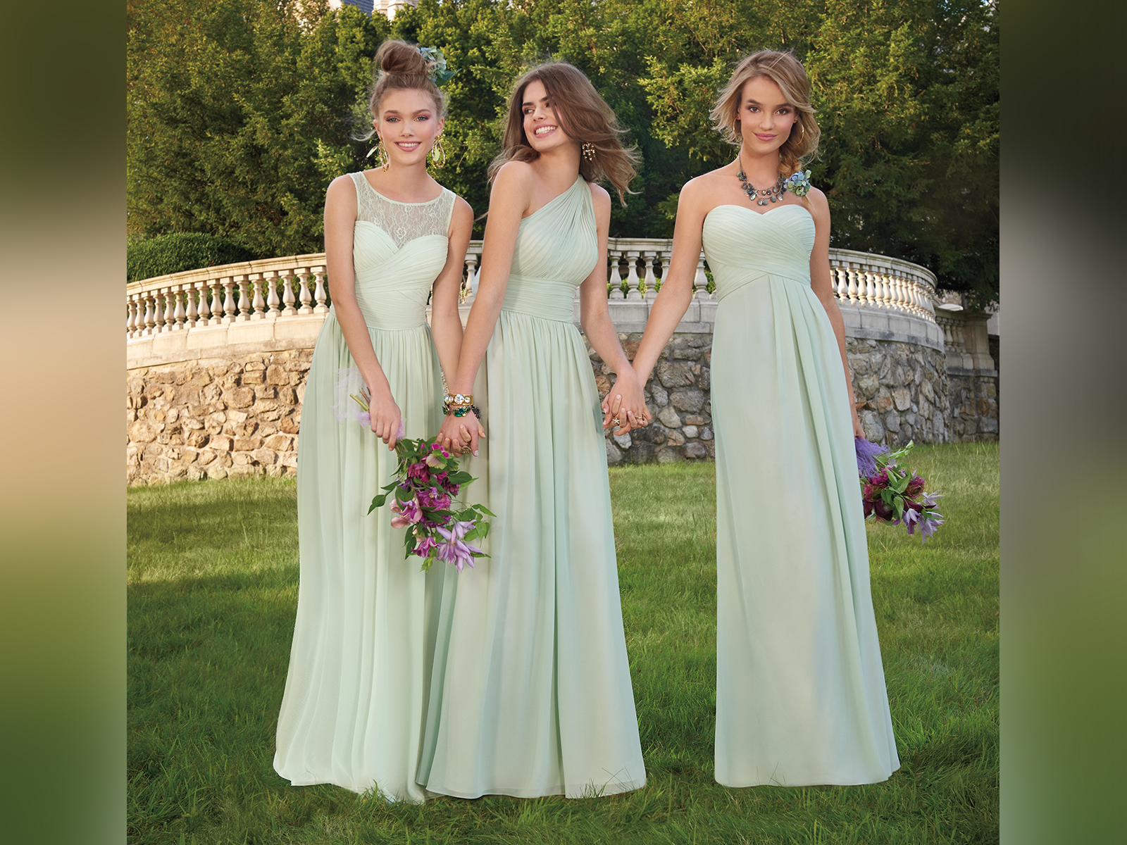 New Sage Bridesmaid Dresses Camille La Vie