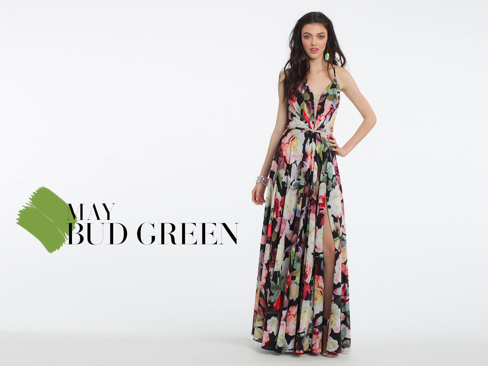 Floral Prom Dress by Camille La Vie