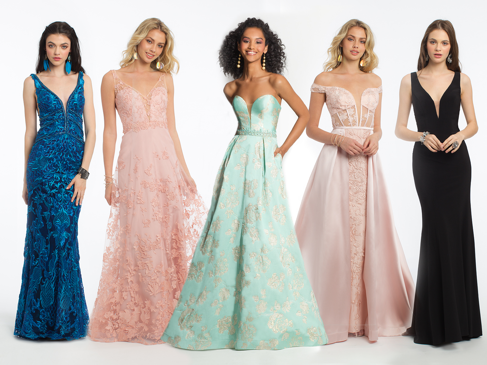 Plunging Evening Dresses Perfect for Prom | Camille La Vie