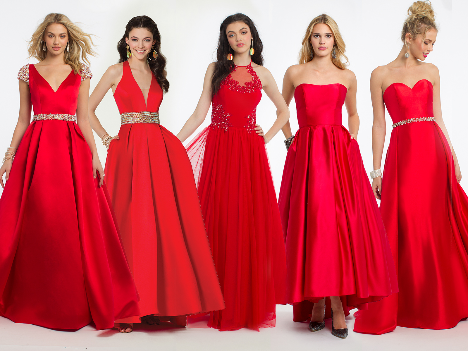 Red Prom Dresses by Camille La Vie