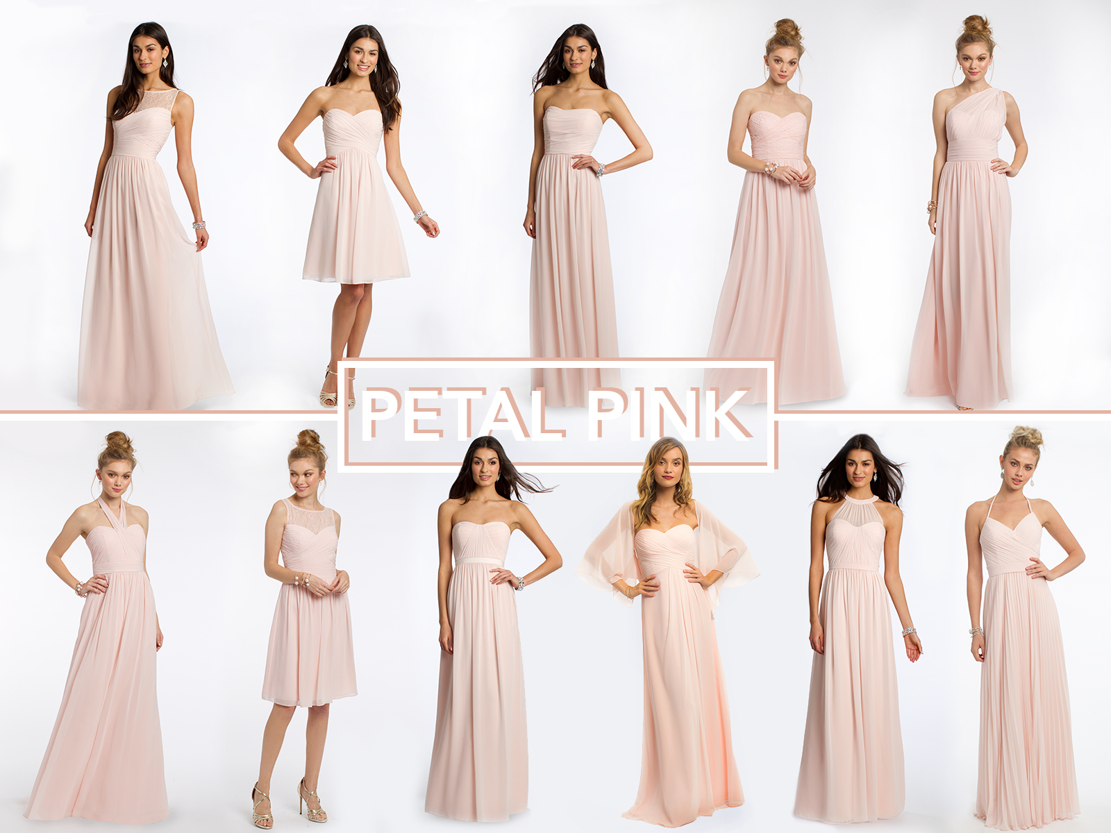 Petal Pink Bridesmaid Dresses by Camille La Vie