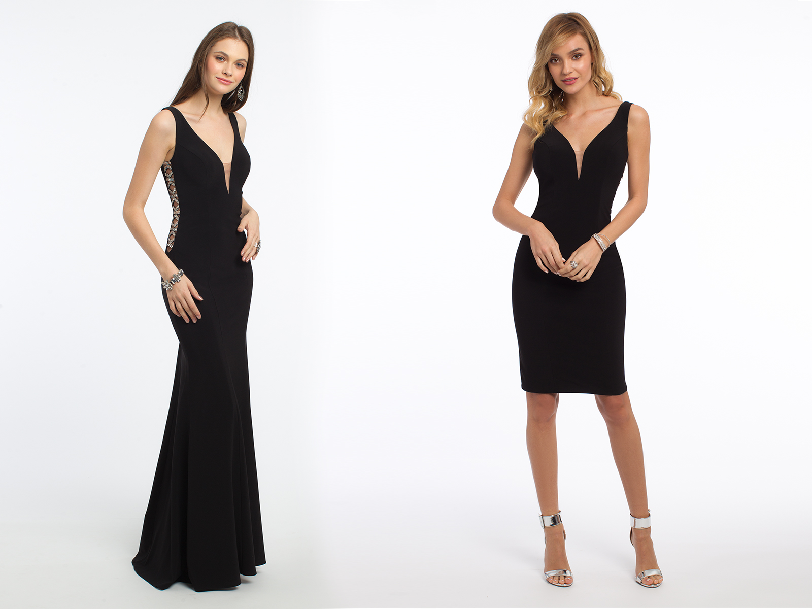 V-Neck Black Dresses