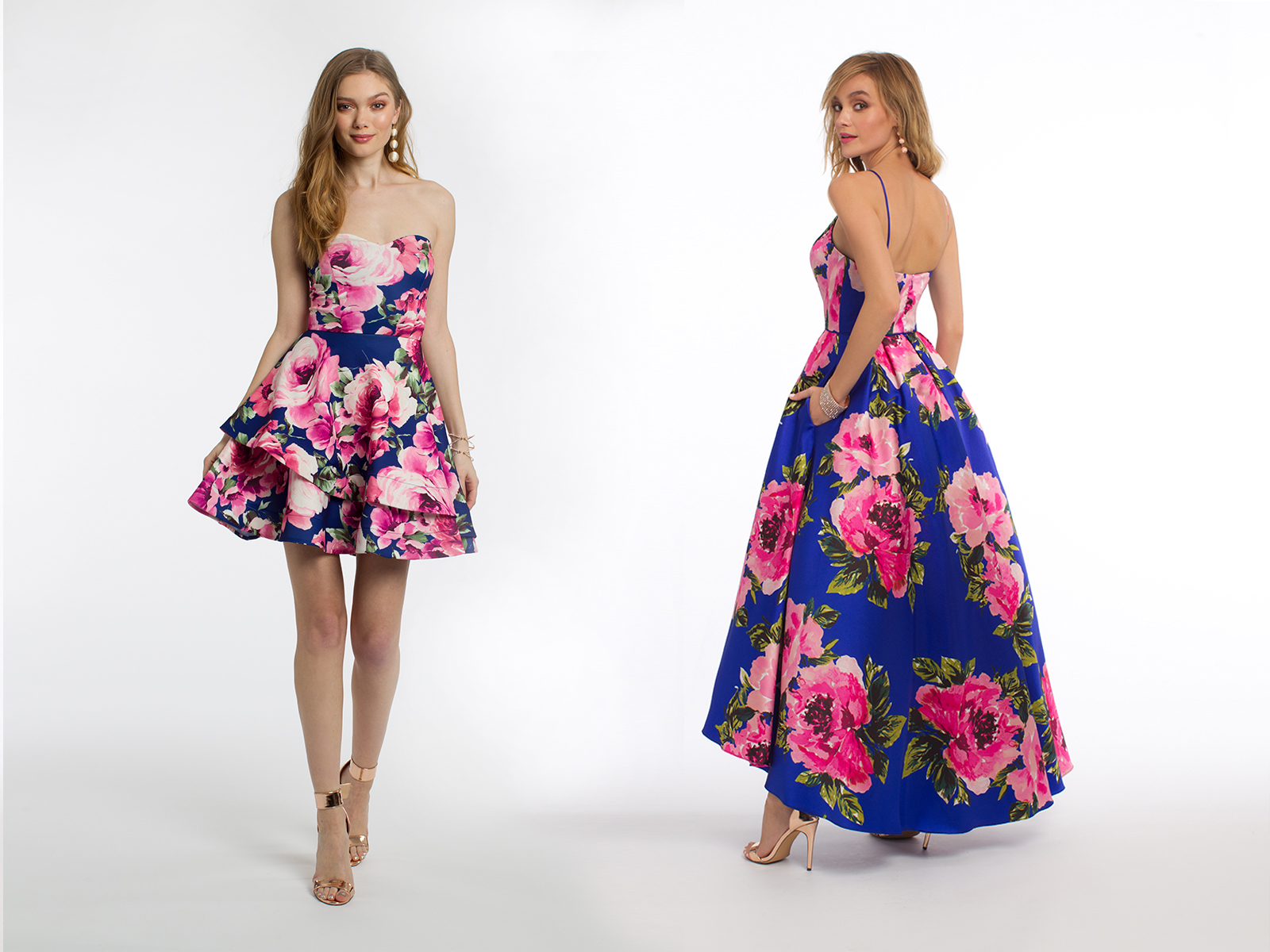Long and Short Floral Dresses