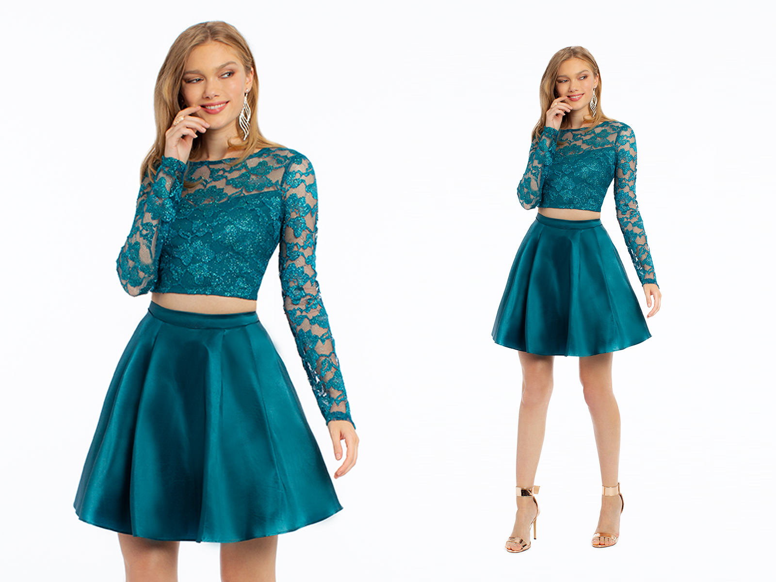 Green Homecoming Dress by Camille La Vie