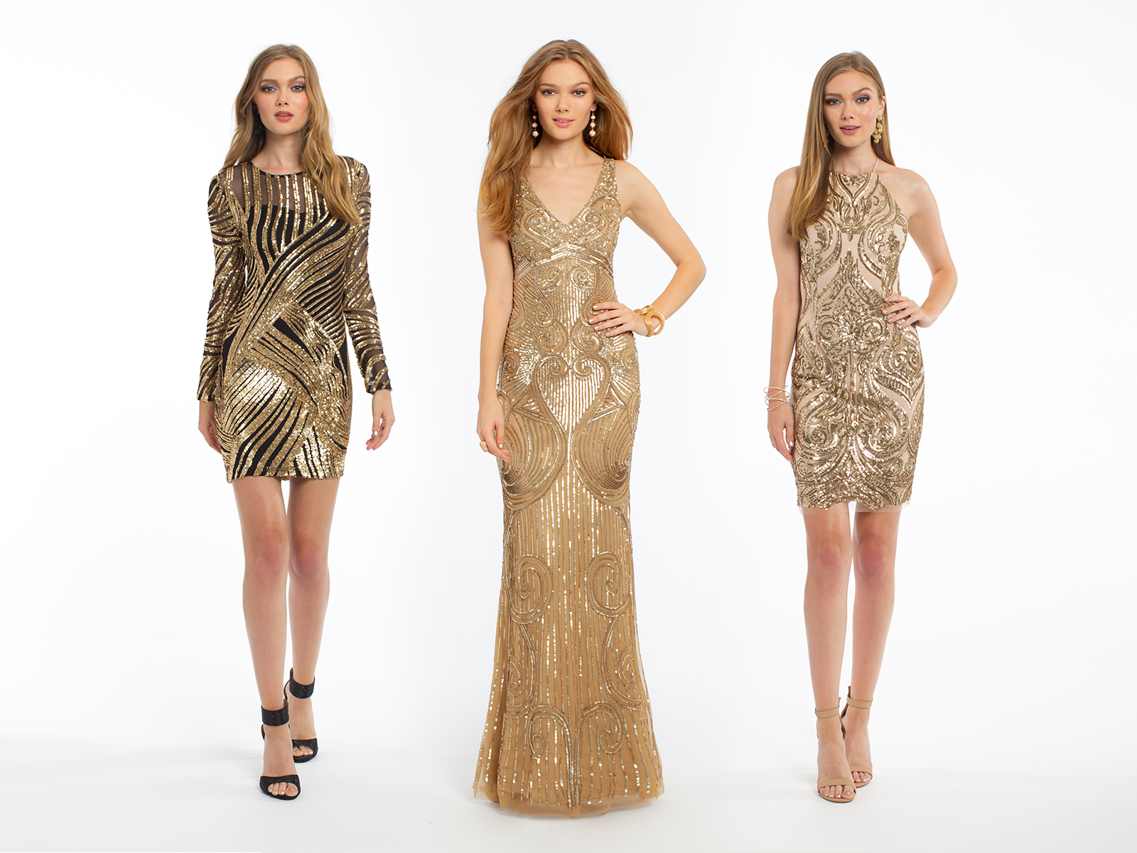 Gold Holiday Dresses