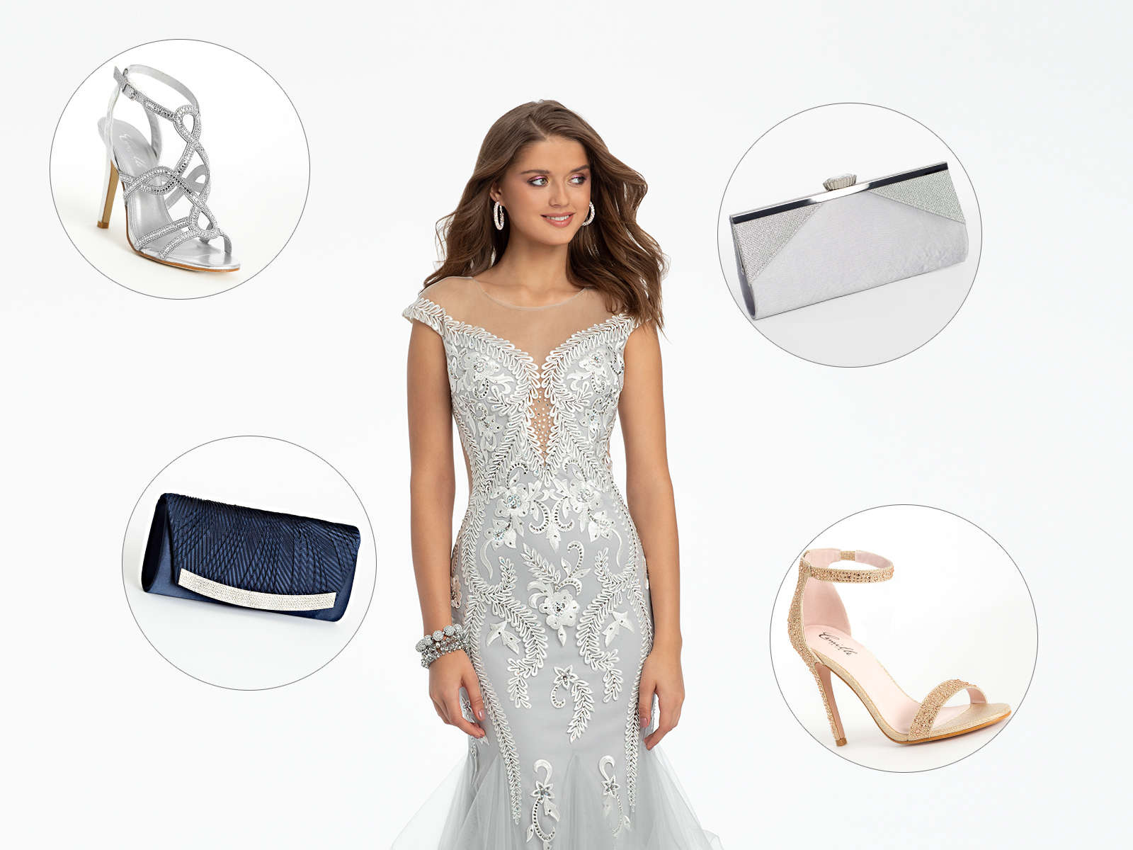 94946fd5d9 Style Guide  Prom Dress + Heels + Clutch