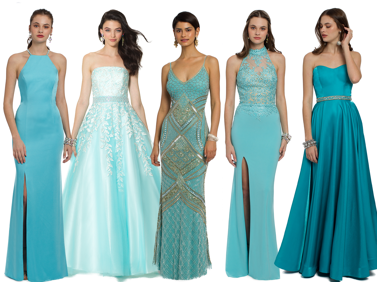 Turquoise Prom Dresses by Camille La Vie