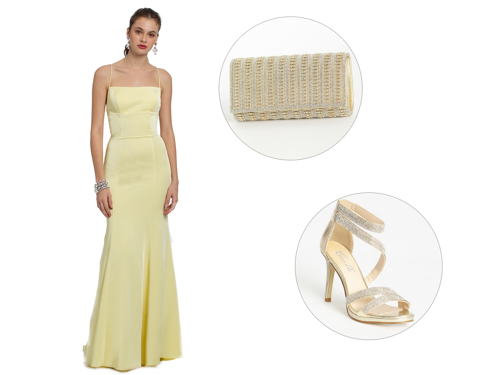 Strappy Back Horsehair Trumpet Skirt Prom Dress