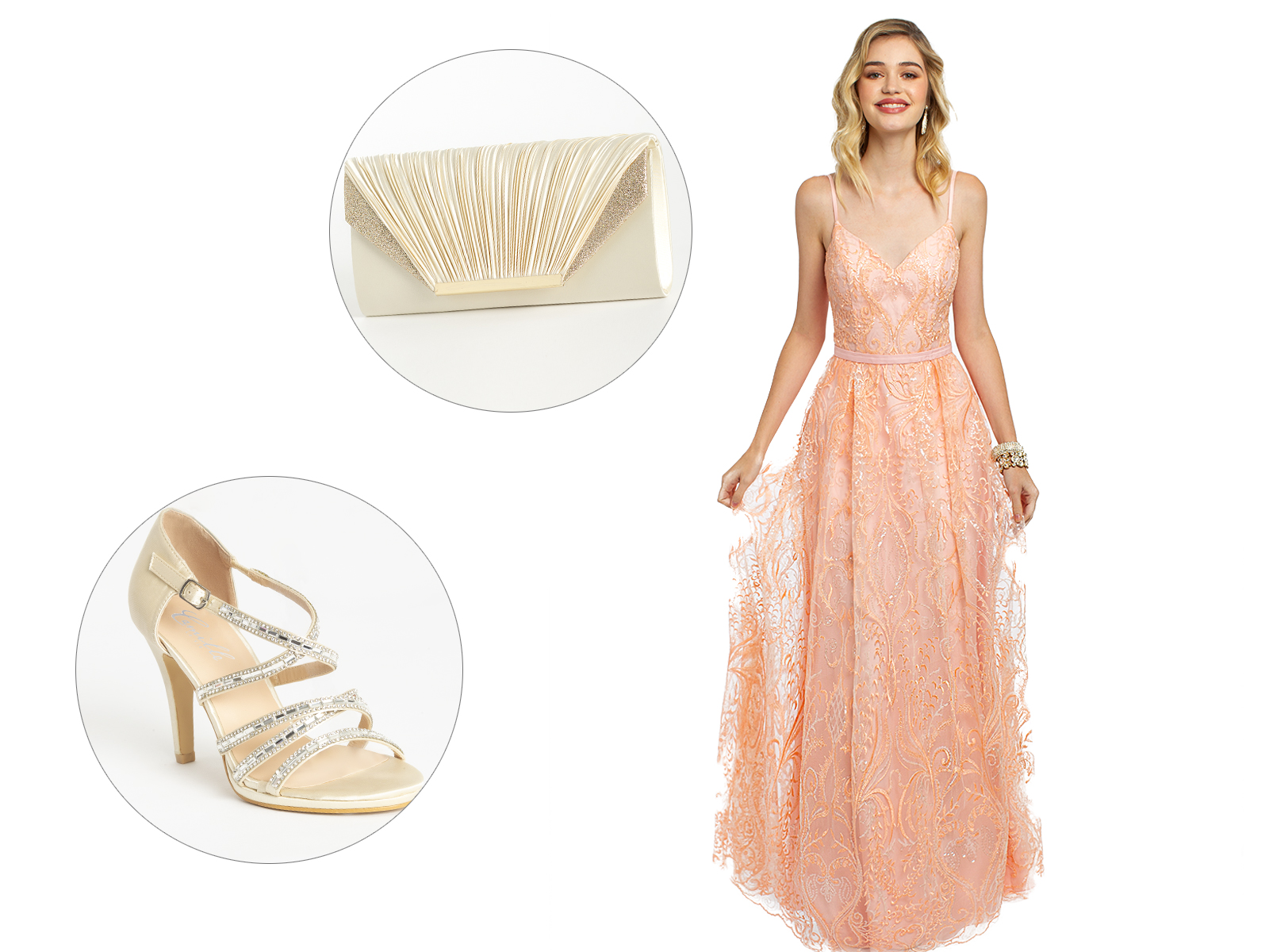Sequin Embroidered Slip A-Line Prom Dress