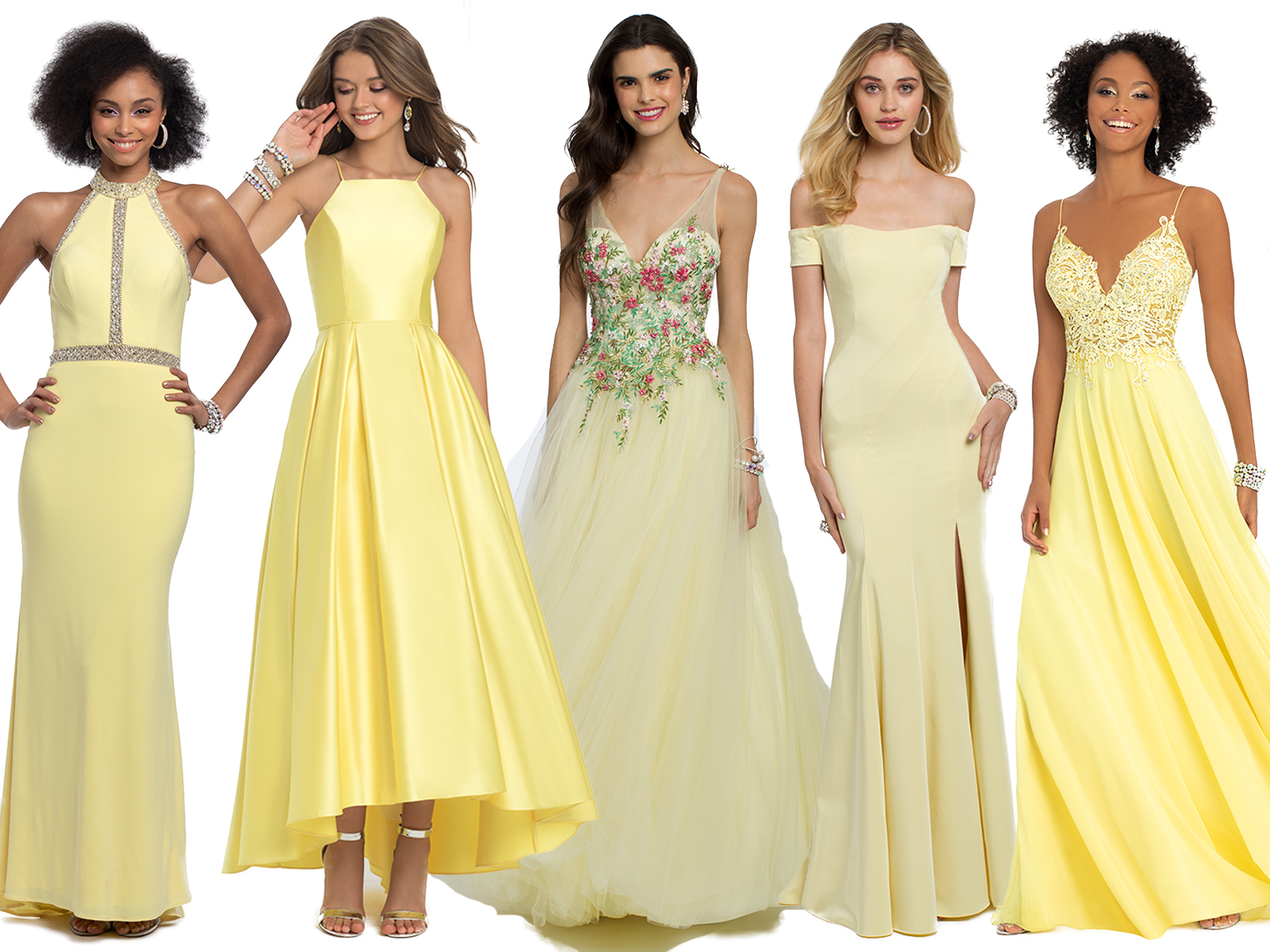 Yellow Prom Dresses by Camille La Vie
