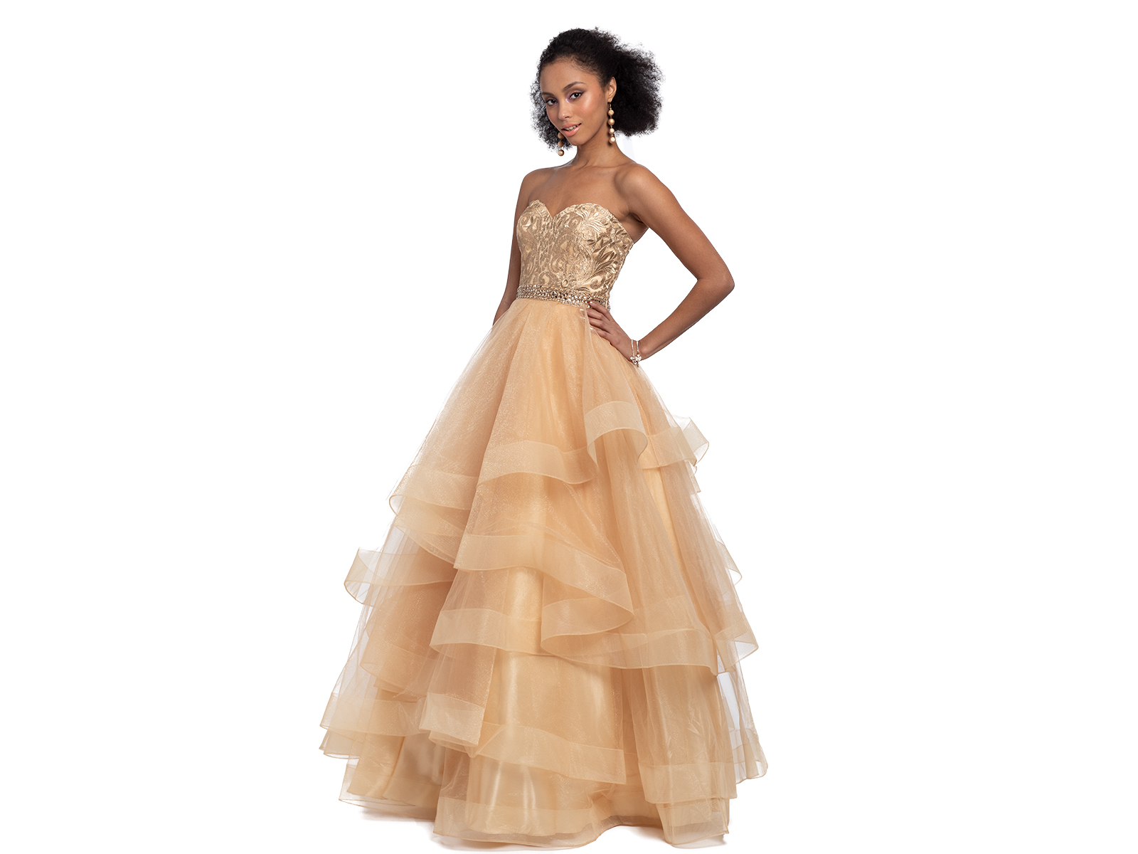 Tiered Prom Dress by Camille La Vie